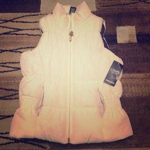 Girls sleeveless puff vest